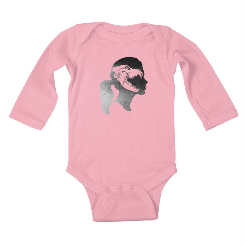 Wolf Girl Kids Baby Longsleeve Bodysuit by craighorky's Shop