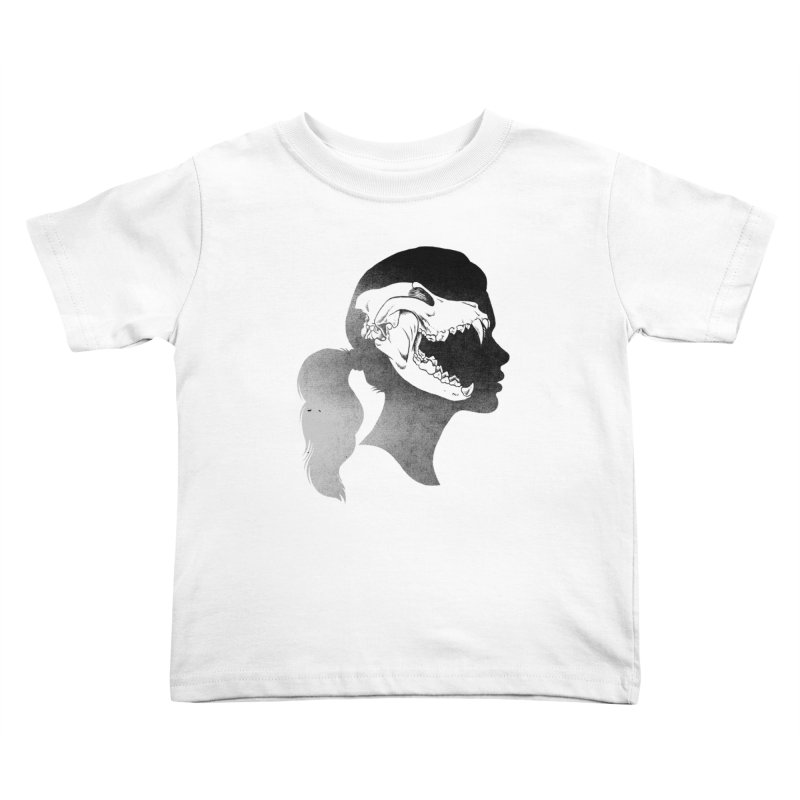 Wolf Girl Kids Toddler T-Shirt by craighorky's Shop