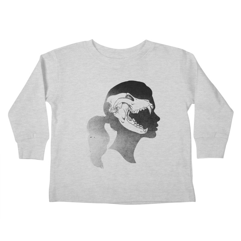 Wolf Girl Kids Toddler Longsleeve T-Shirt by craighorky's Shop
