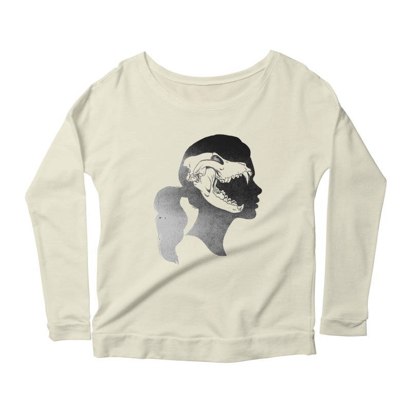 Wolf Girl Women's Longsleeve Scoopneck  by craighorky's Shop