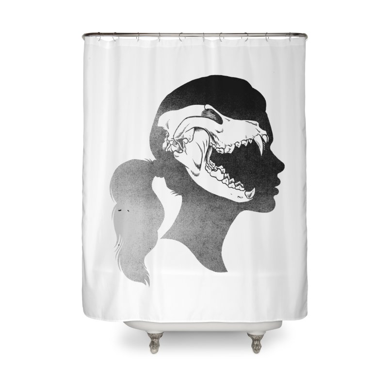Wolf Girl Home Shower Curtain by craighorky's Shop