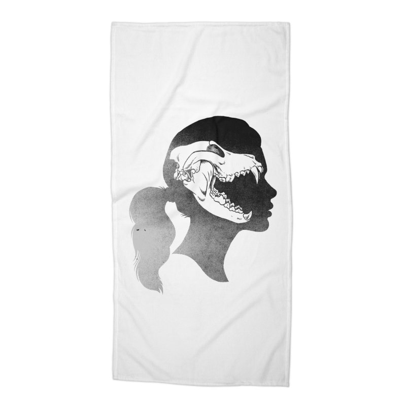 Wolf Girl Accessories Beach Towel by craighorky's Shop