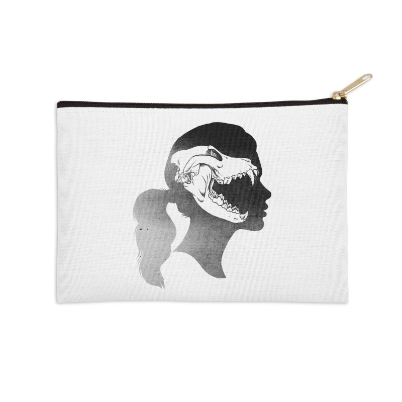 Wolf Girl Accessories Zip Pouch by craighorky's Shop