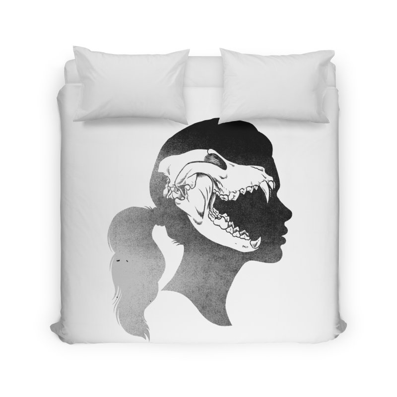 Wolf Girl Home Duvet by craighorky's Shop