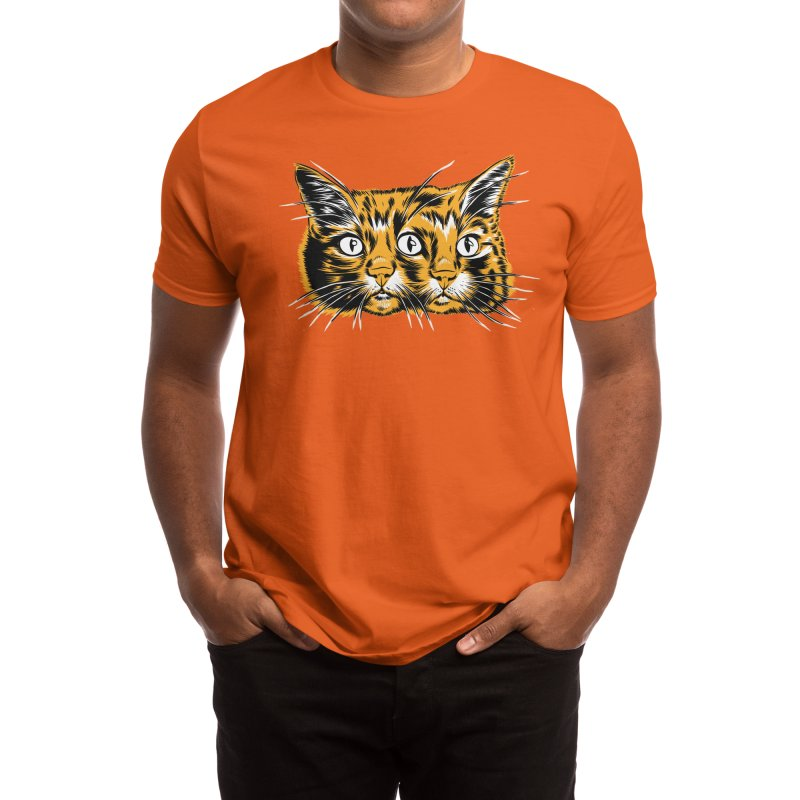 orange janus cat Men's T-Shirt by craighorky's Shop