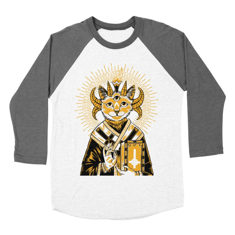 Baphomet Cat Saint Men's Baseball Triblend T-Shirt by craighorky's Shop