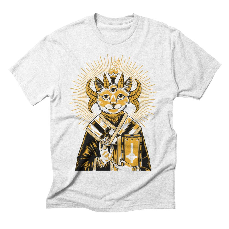 Baphomet Cat Saint Men's Triblend T-shirt by craighorky's Shop
