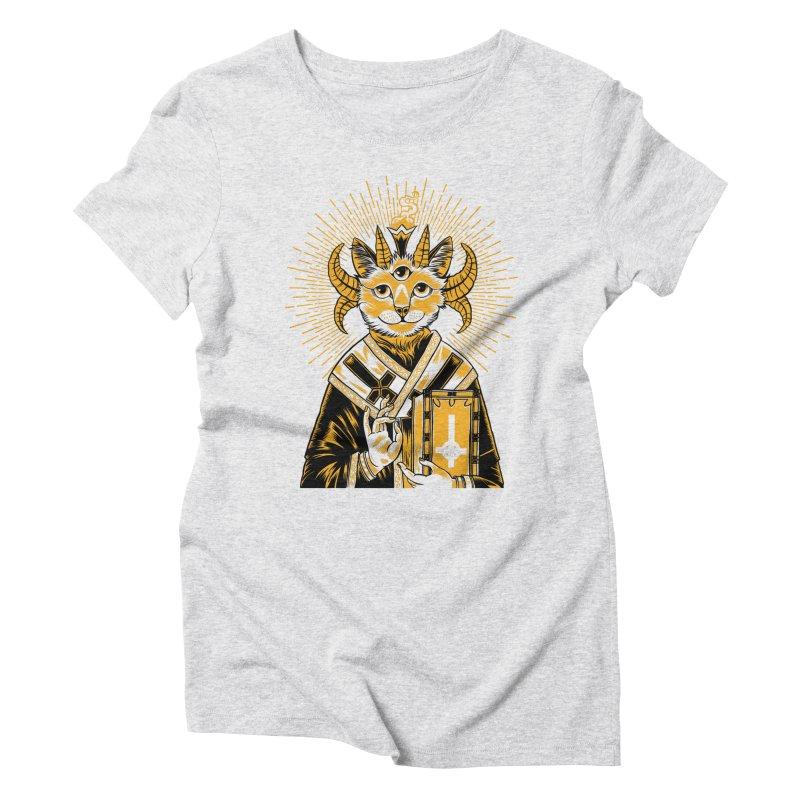 Baphomet Cat Saint Women's Triblend T-Shirt by craighorky's Shop