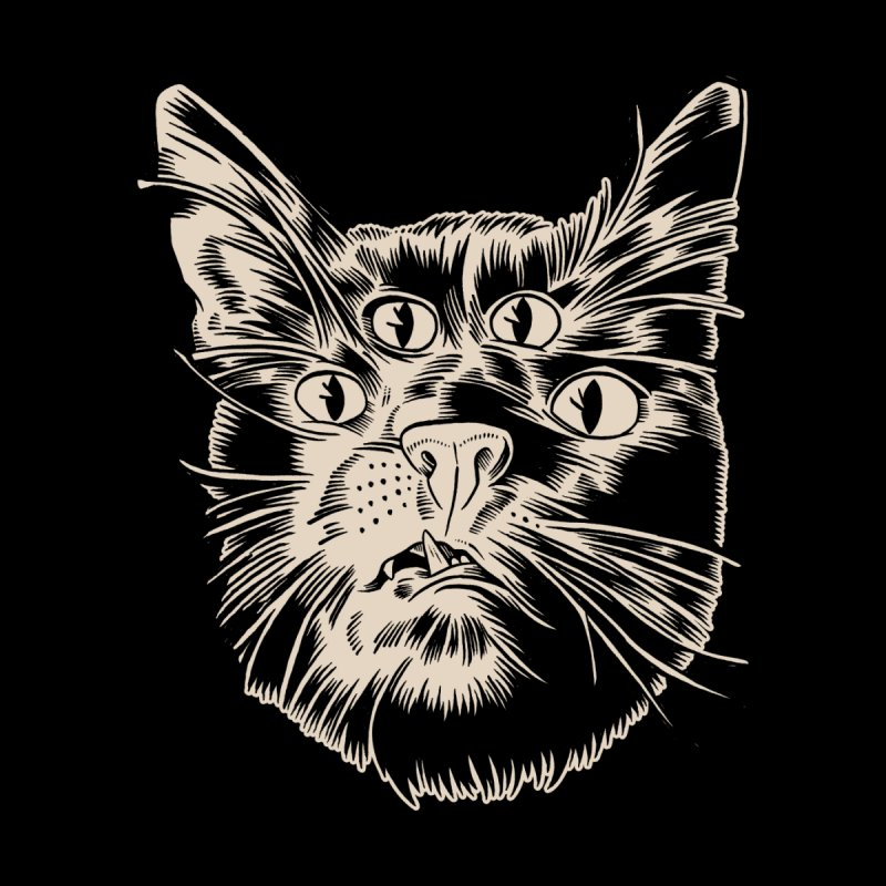 4 eyed cat by craighorky's Shop