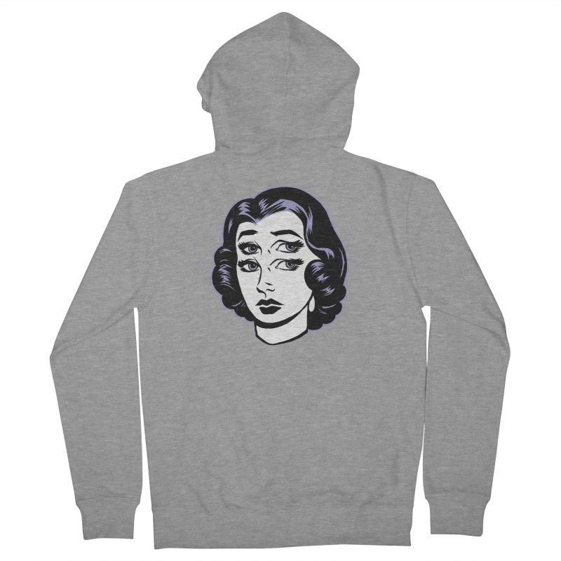 4 eyed girl Men's Zip-Up Hoody by craighorky's Shop