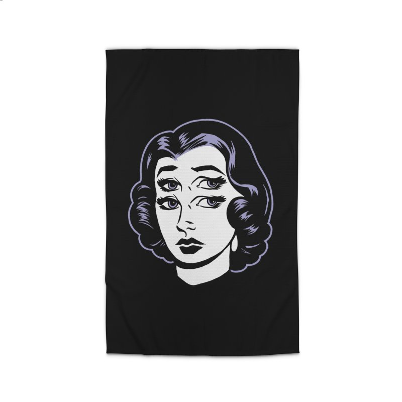 4 eyed girl Home Rug by craighorky's Shop