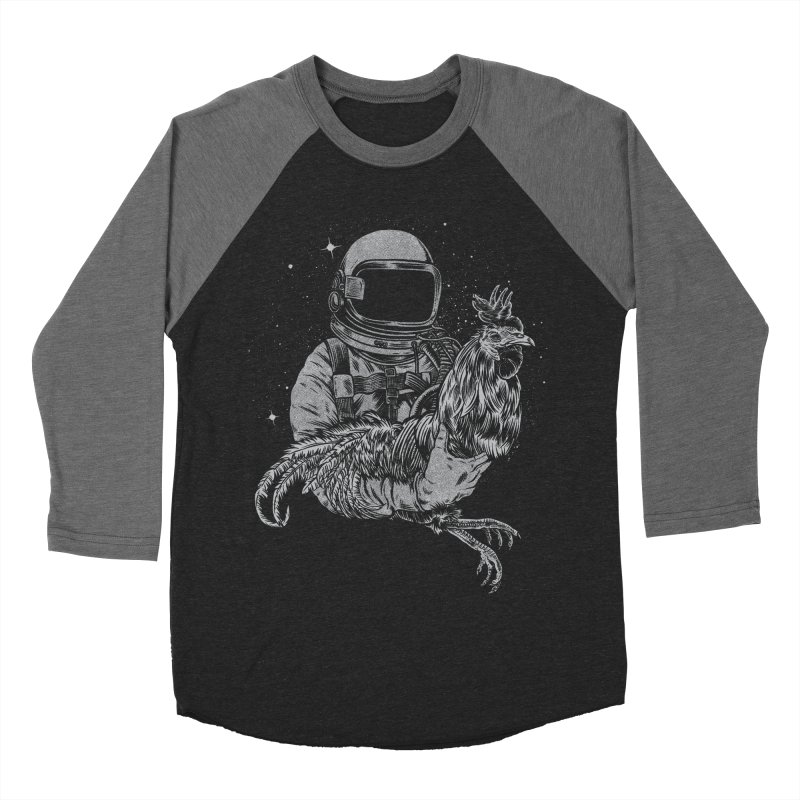 astro chicken Men's Baseball Triblend T-Shirt by craighorky's Shop