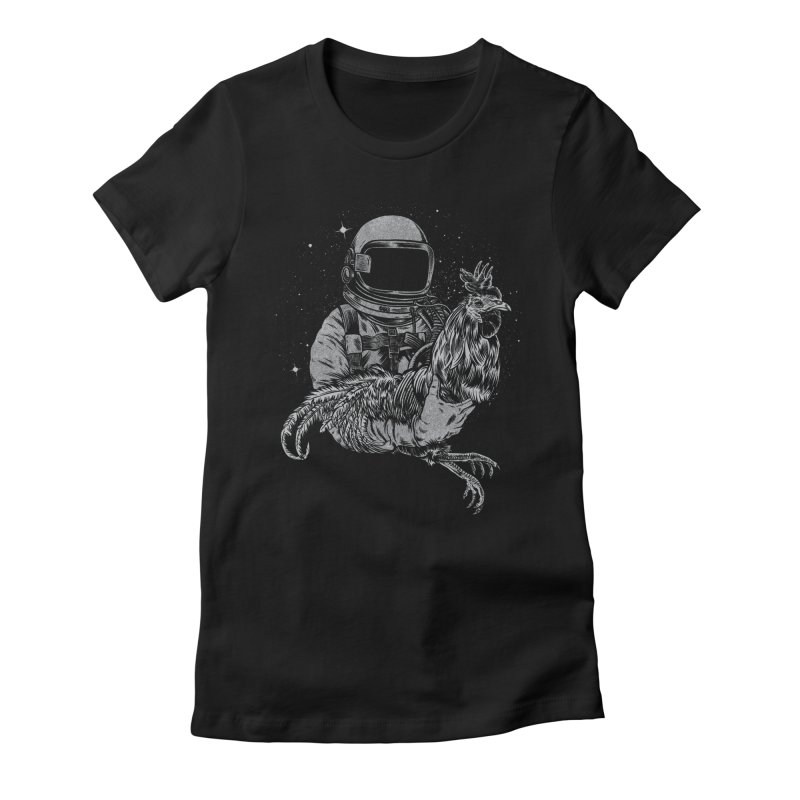 astro chicken Women's Fitted T-Shirt by craighorky's Shop