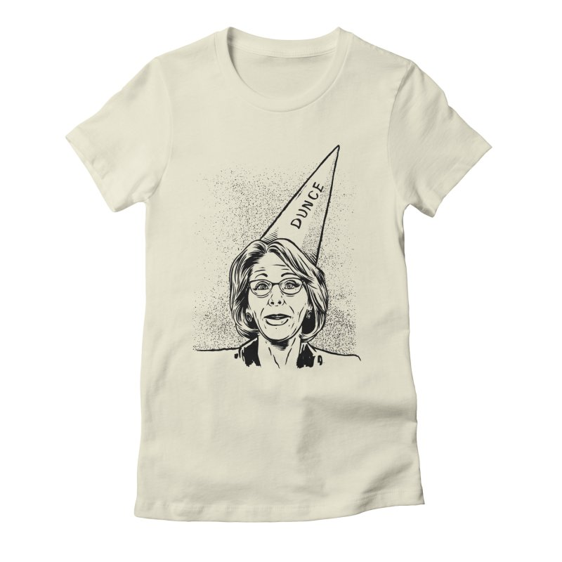 Bet$y DeVo$ Women's Fitted T-Shirt by craighorky's Shop