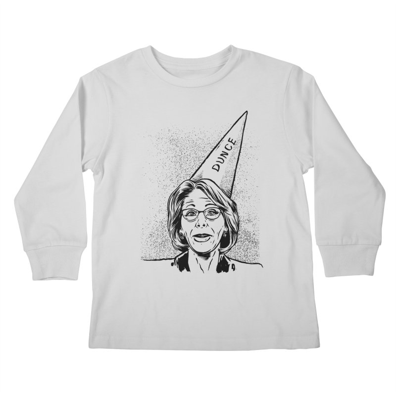 Bet$y DeVo$ Kids Longsleeve T-Shirt by craighorky's Shop