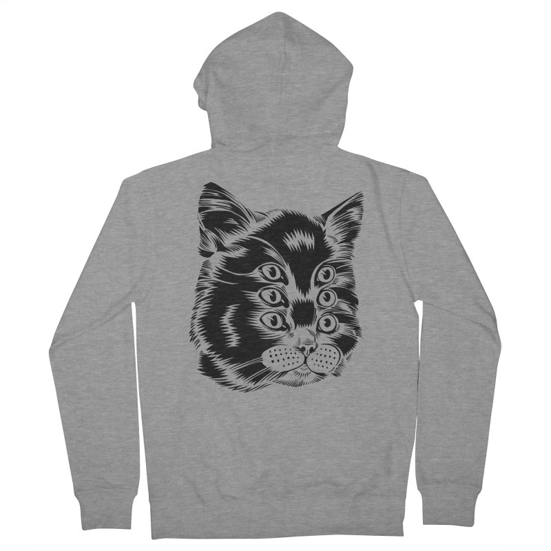 6 eyed cat Men's Zip-Up Hoody by craighorky's Shop