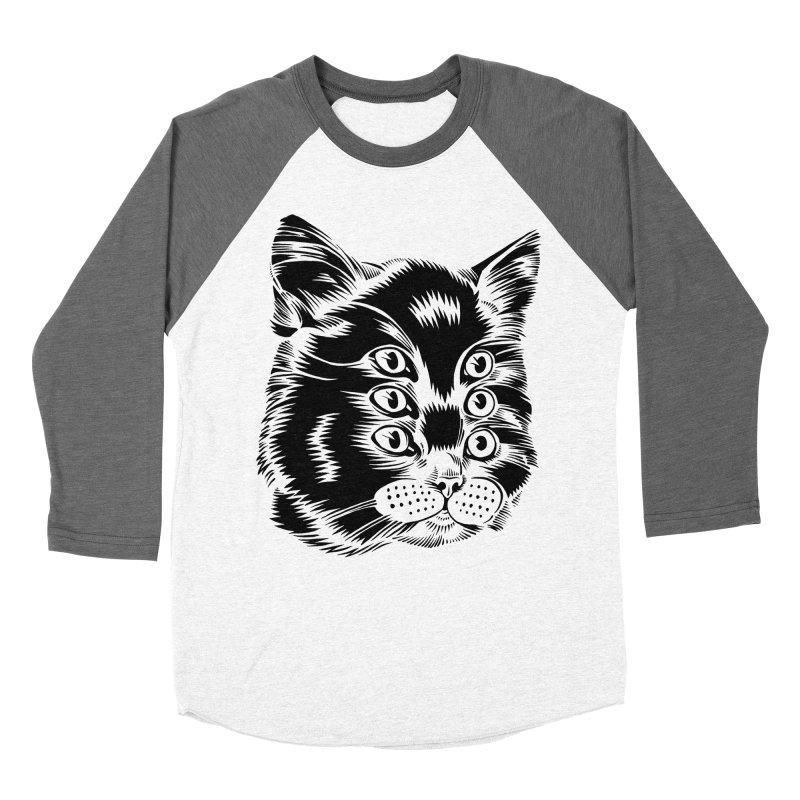 6 eyed cat Women's Baseball Triblend T-Shirt by craighorky's Shop