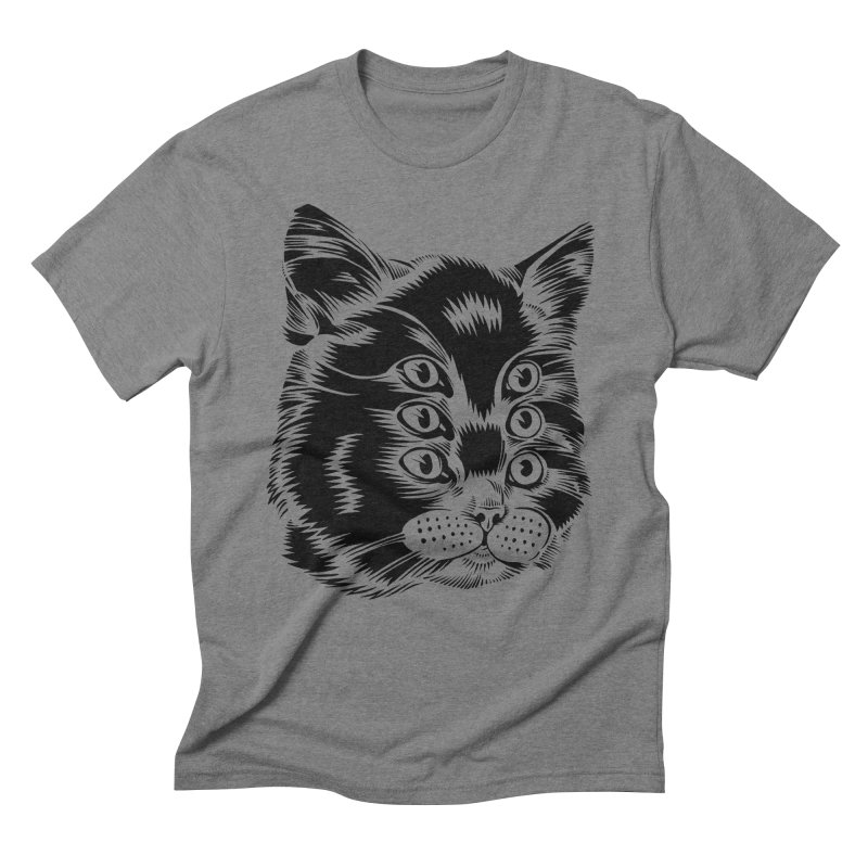 6 eyed cat Men's Triblend T-shirt by craighorky's Shop