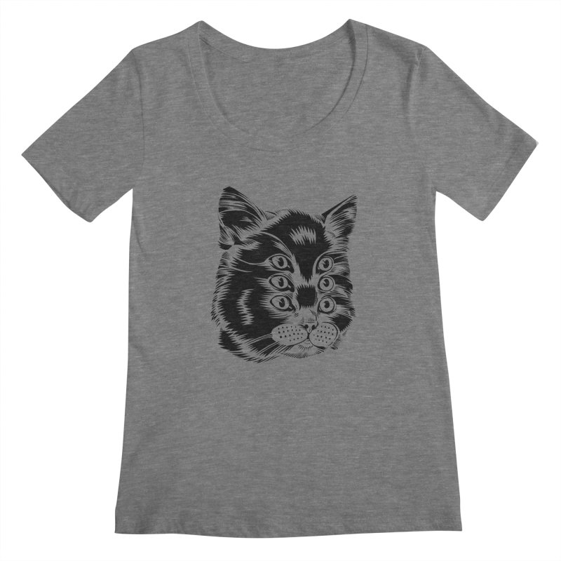 6 eyed cat Women's Scoopneck by craighorky's Shop