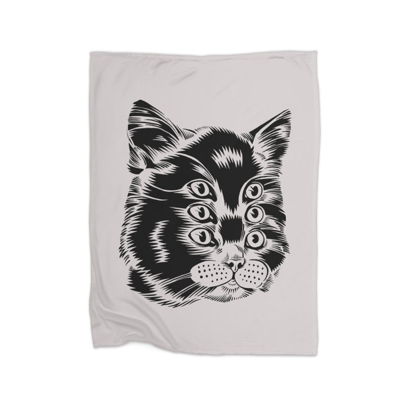 6 eyed cat Home Blanket by craighorky's Shop