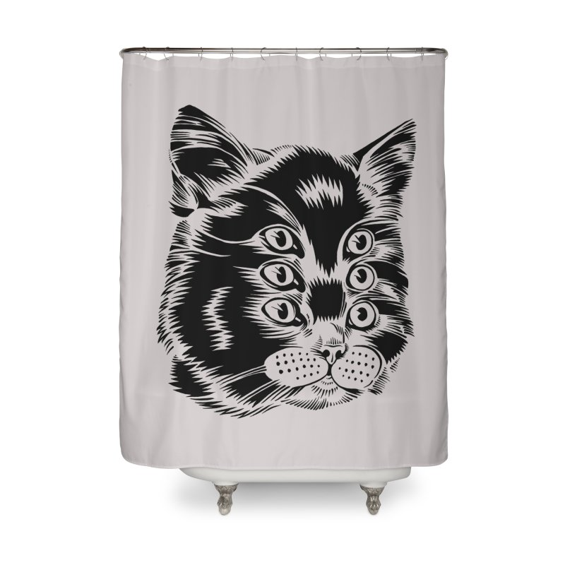 6 eyed cat Home Shower Curtain by craighorky's Shop