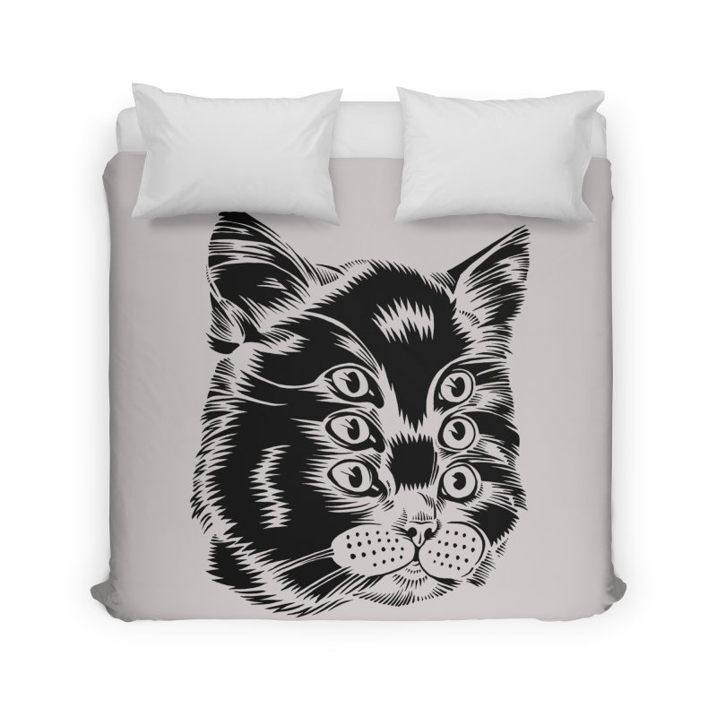 6 eyed cat Home Duvet by craighorky's Shop