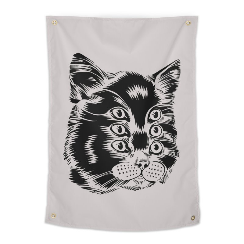 6 eyed cat Home Tapestry by craighorky's Shop