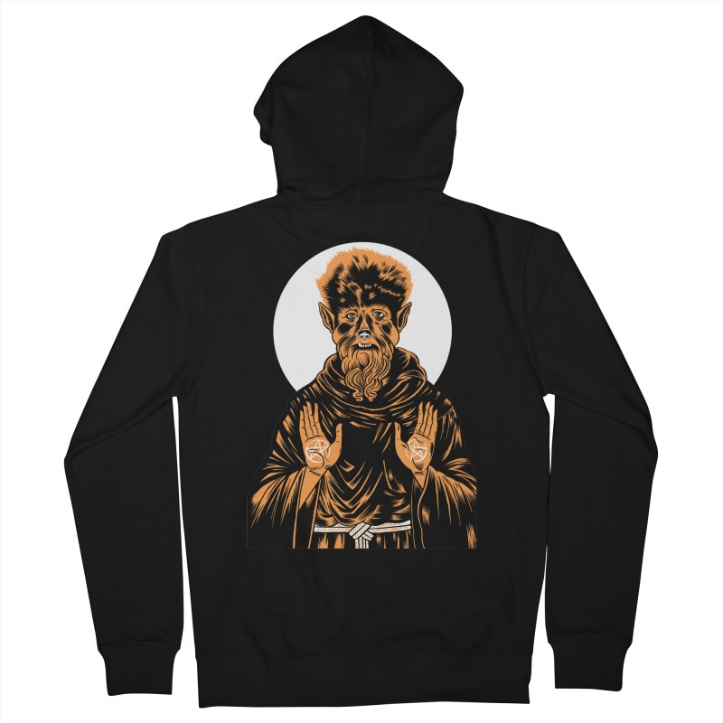 Saint Wolfman Women's Zip-Up Hoody by craighorky's Shop