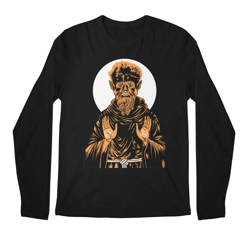 Saint Wolfman Men's Longsleeve T-Shirt by craighorky's Shop