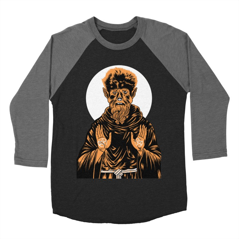 Saint Wolfman Men's Baseball Triblend T-Shirt by craighorky's Shop
