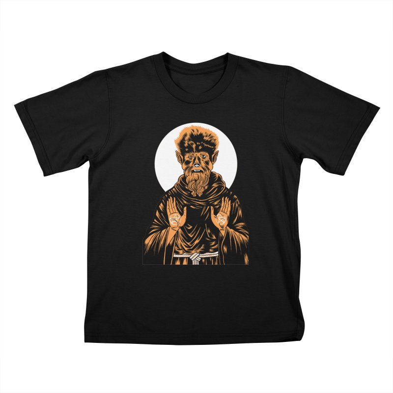 Saint Wolfman Kids T-Shirt by craighorky's Shop