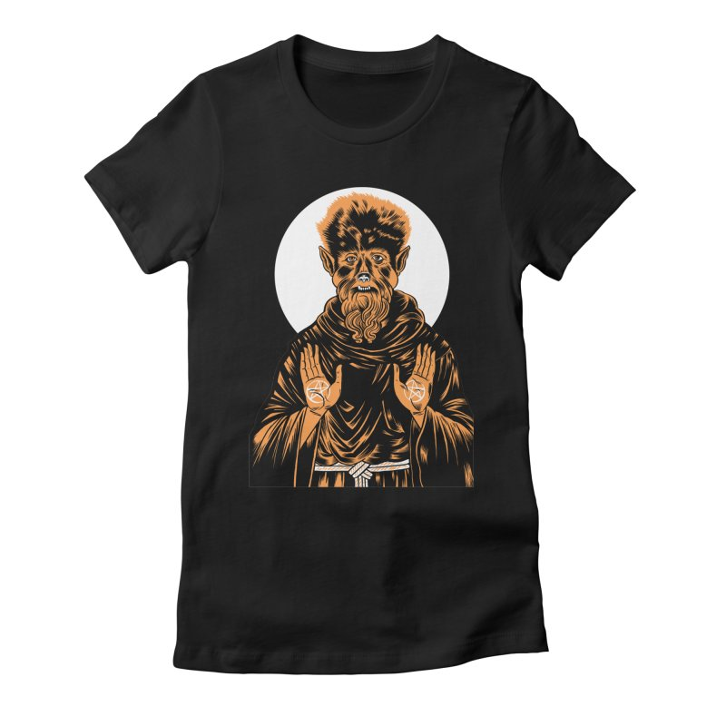 Saint Wolfman Women's Fitted T-Shirt by craighorky's Shop