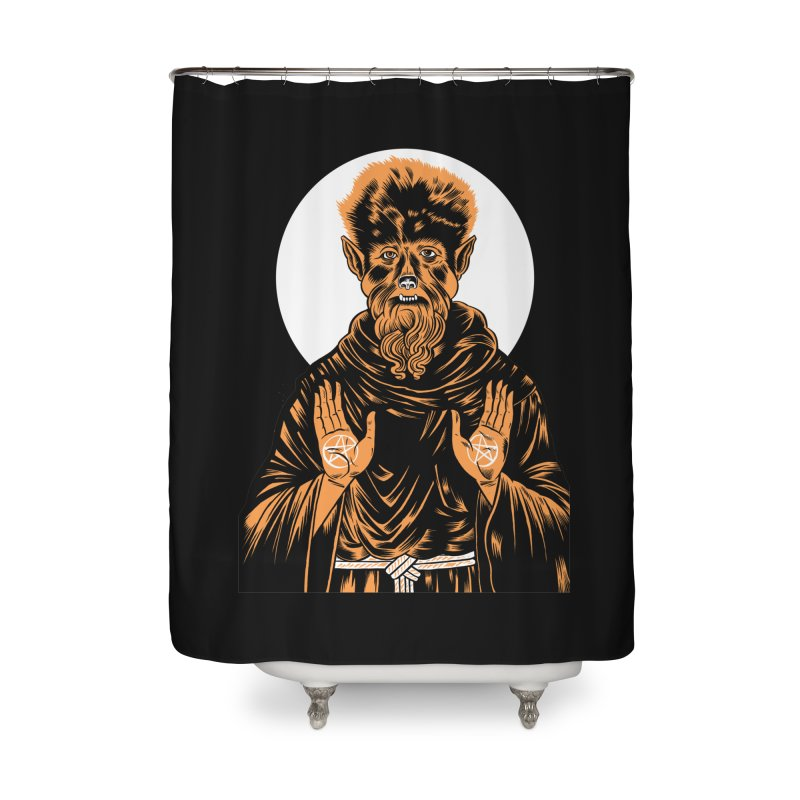 Saint Wolfman Home Shower Curtain by craighorky's Shop