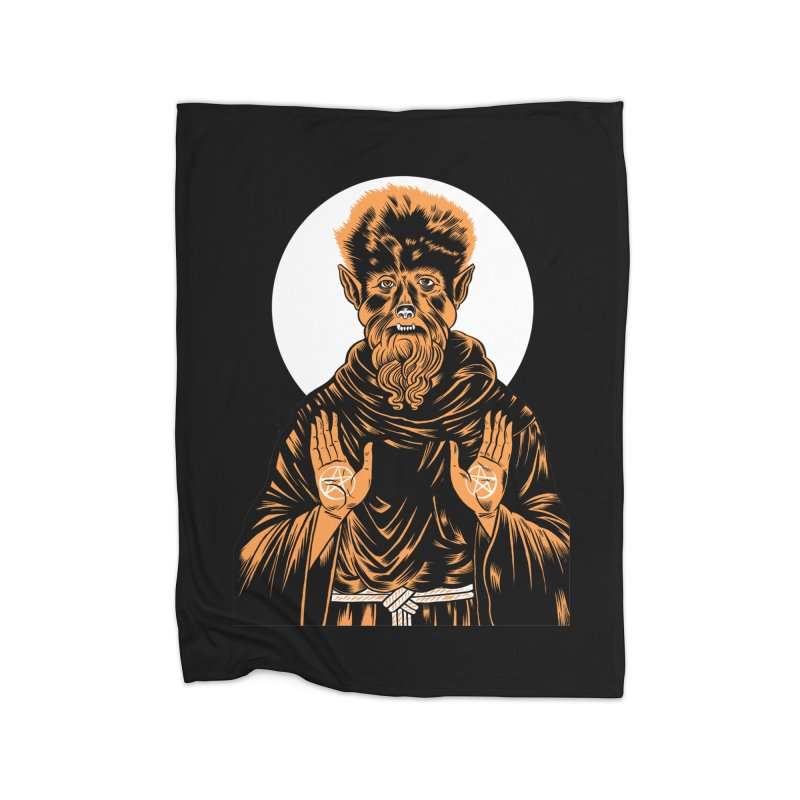 Saint Wolfman Home Blanket by craighorky's Shop