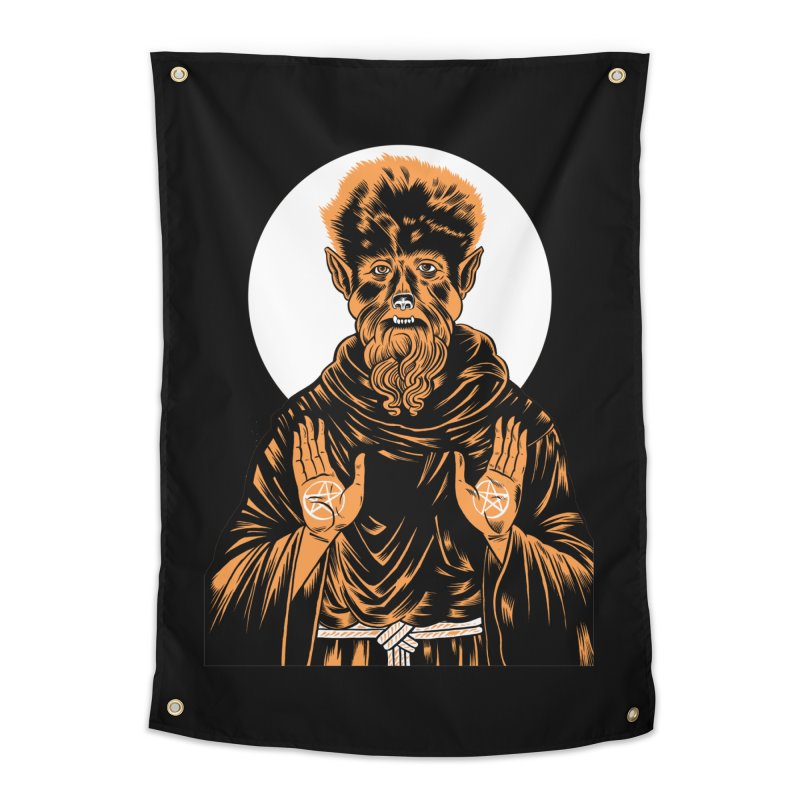 Saint Wolfman Home Tapestry by craighorky's Shop