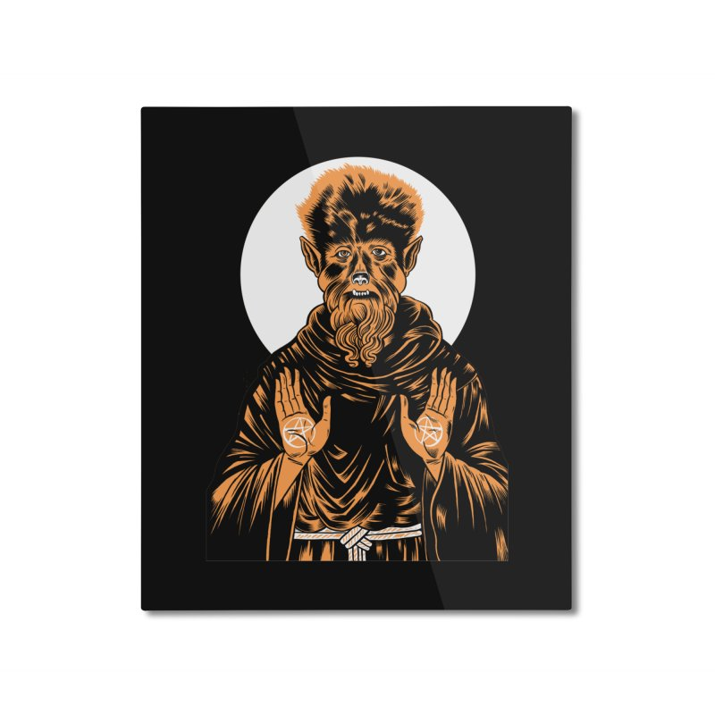 Saint Wolfman Home Mounted Aluminum Print by craighorky's Shop
