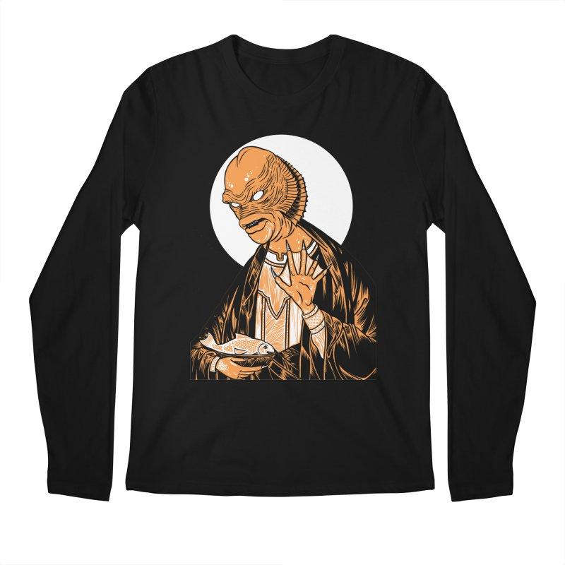 Saint Gillman, Patron Saint of the Black Lagoon Men's Longsleeve T-Shirt by craighorky's Shop