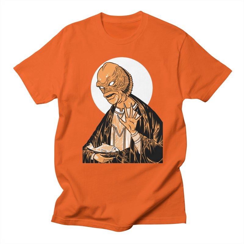Saint Gillman, Patron Saint of the Black Lagoon Men's T-Shirt by craighorky's Shop