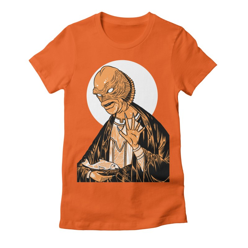 Saint Gillman, Patron Saint of the Black Lagoon Women's Fitted T-Shirt by craighorky's Shop