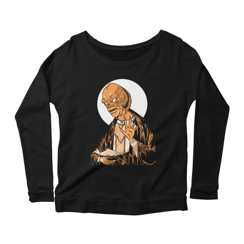 Saint Gillman, Patron Saint of the Black Lagoon Women's Longsleeve Scoopneck  by craighorky's Shop
