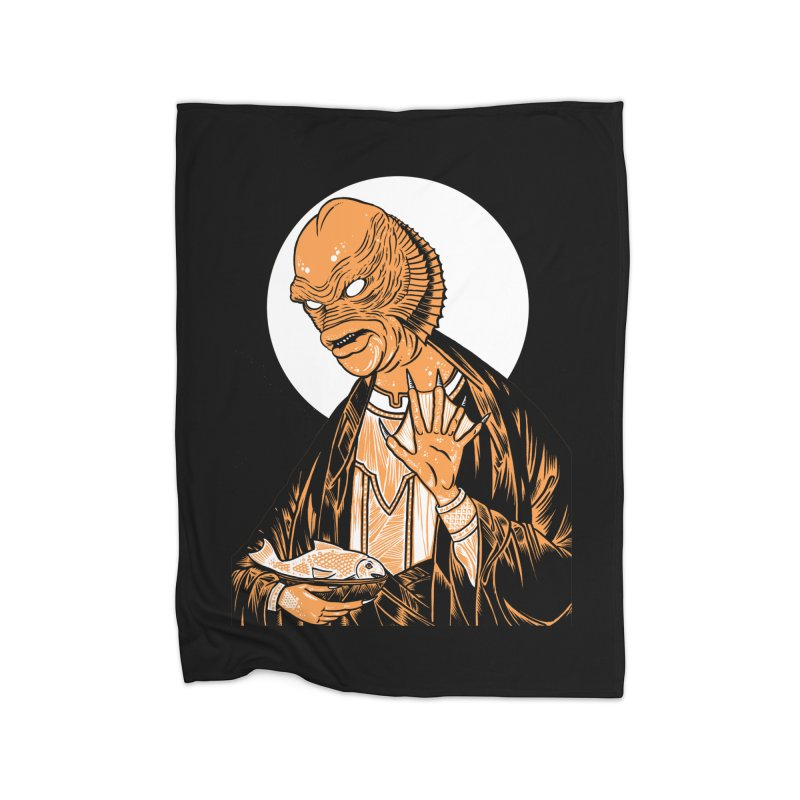 Saint Gillman, Patron Saint of the Black Lagoon Home Blanket by craighorky's Shop