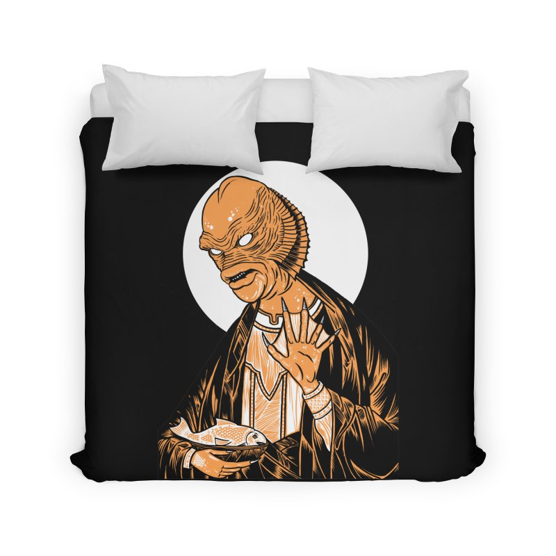 Saint Gillman, Patron Saint of the Black Lagoon Home Duvet by craighorky's Shop