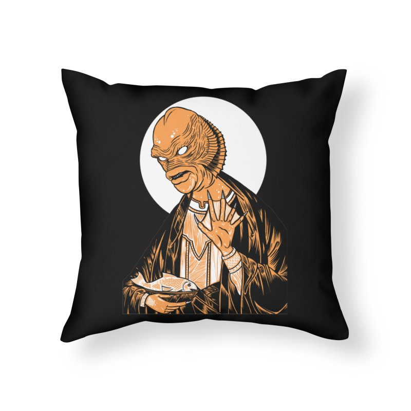 Saint Gillman, Patron Saint of the Black Lagoon Home Throw Pillow by craighorky's Shop