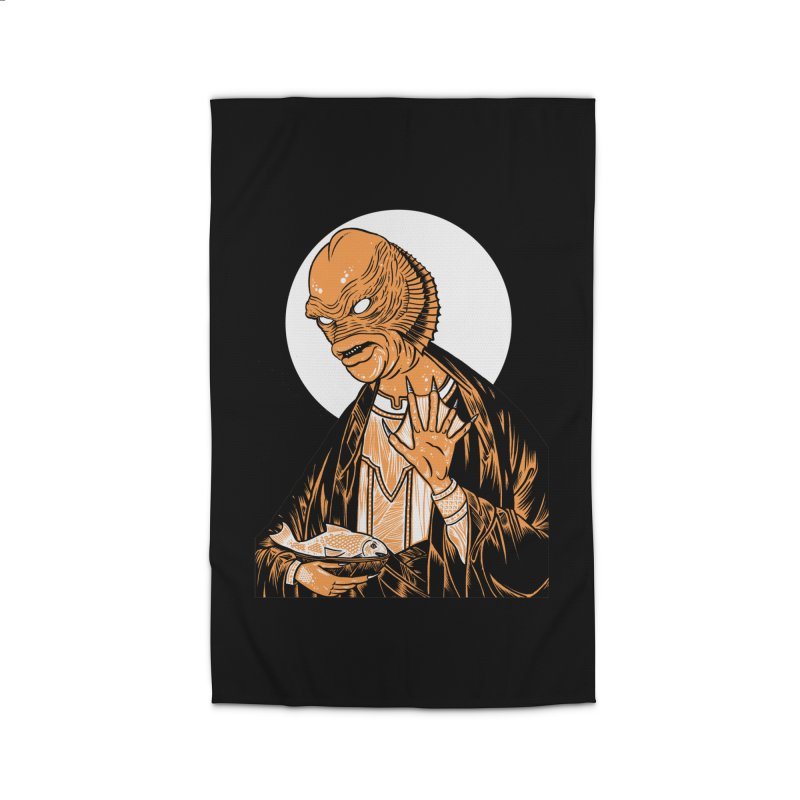 Saint Gillman, Patron Saint of the Black Lagoon Home Rug by craighorky's Shop