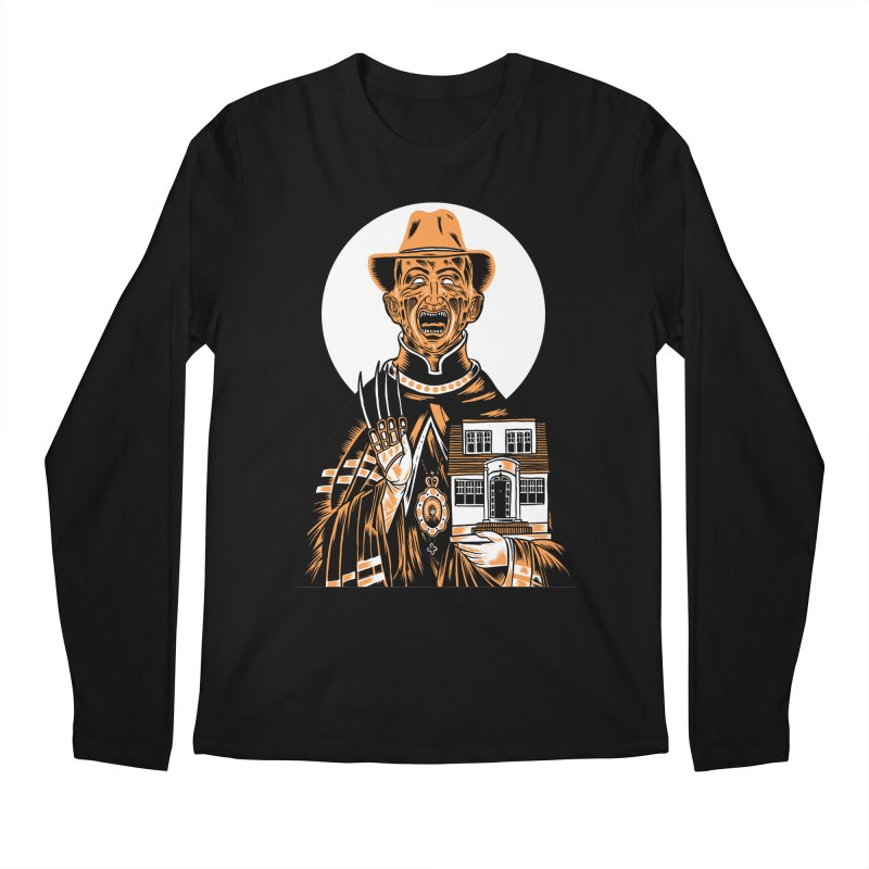 St. Freddy, Patron Saint of Nightmares Men's Longsleeve T-Shirt by craighorky's Shop