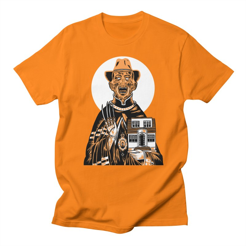 St. Freddy, Patron Saint of Nightmares Men's T-shirt by craighorky's Shop