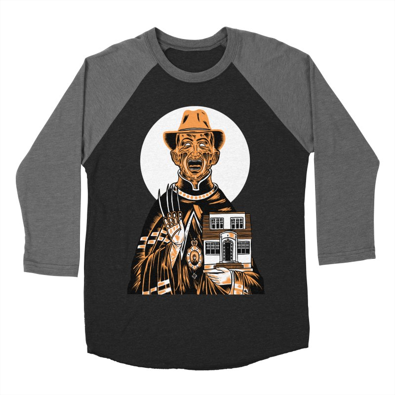 St. Freddy, Patron Saint of Nightmares Men's Baseball Triblend T-Shirt by craighorky's Shop
