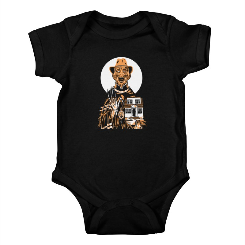 St. Freddy, Patron Saint of Nightmares Kids Baby Bodysuit by craighorky's Shop