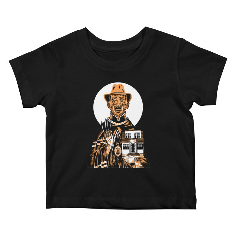 St. Freddy, Patron Saint of Nightmares Kids Baby T-Shirt by craighorky's Shop
