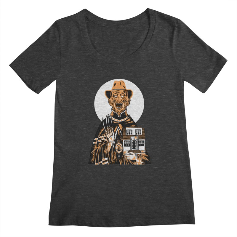 St. Freddy, Patron Saint of Nightmares Women's Scoopneck by craighorky's Shop